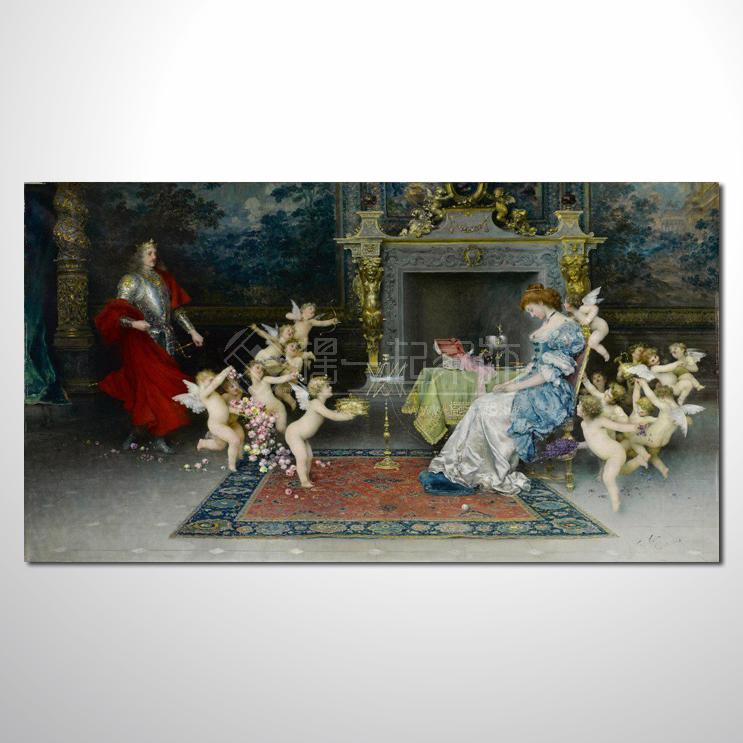 【摆一起家饰】欧式宫廷107 高档宫廷 油画 高品味 装饰品 艺术品