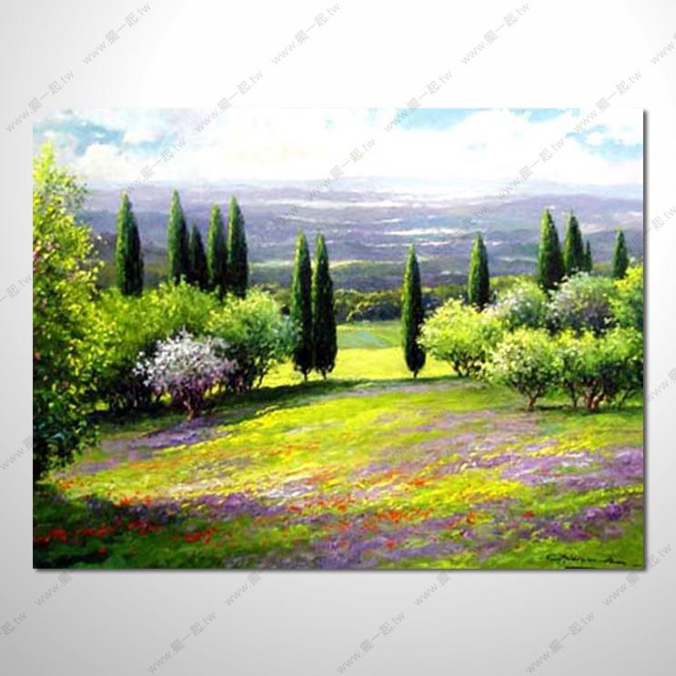 香气 乡村风景 山水油画 纯手绘 油画 装饰 挂画 田园风景