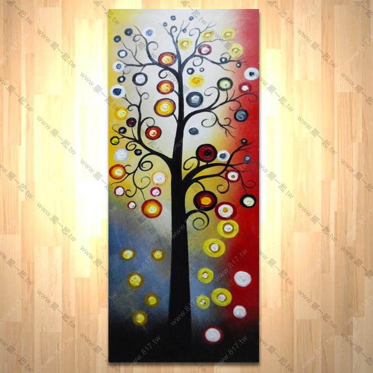 发财树 如意花 - 刀画_总分类_摆一起家饰 油画 画的