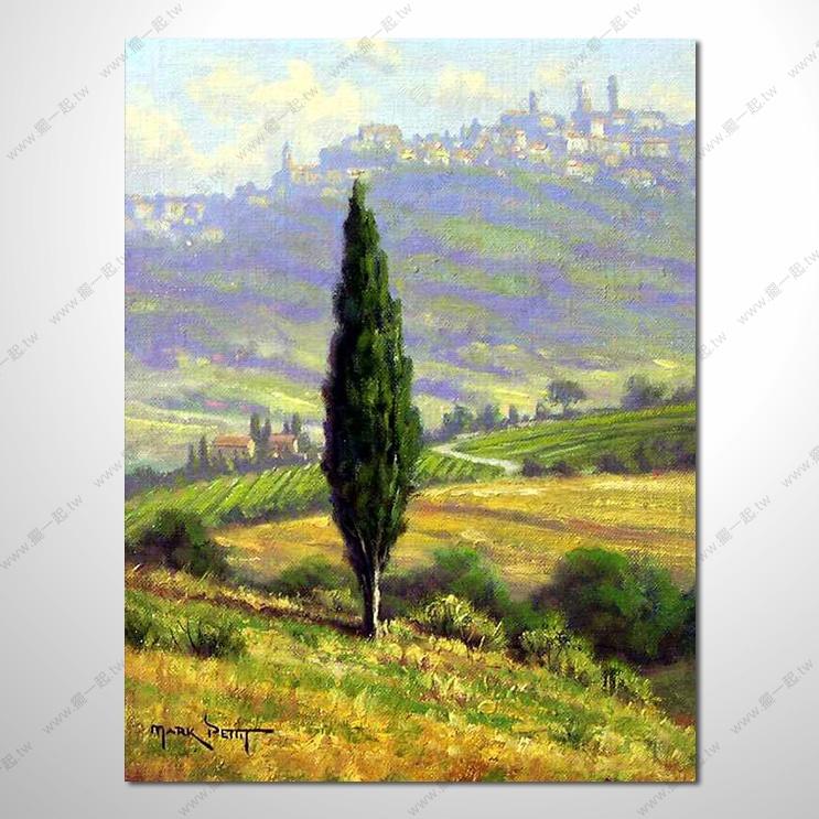 乡村风景 山水油画 纯手绘