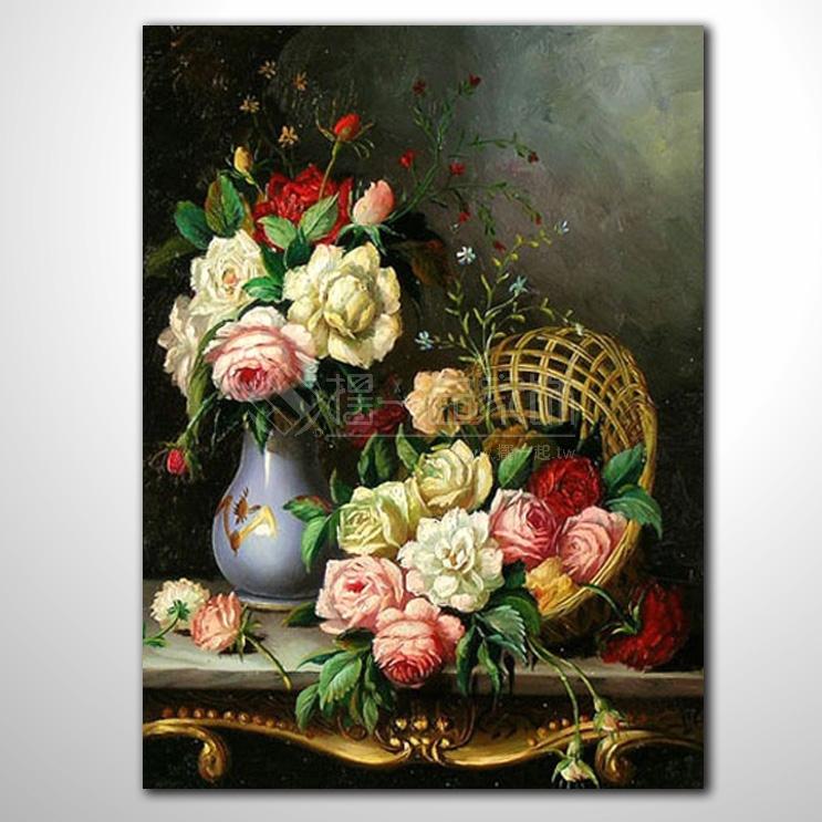 欧式古典花卉24 纯手绘 花卉油画 山水画品 艺术品 作品 画饰 无框画